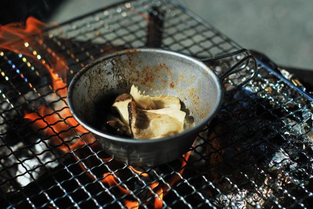 シェラカップ で作るエリンギのバター焼