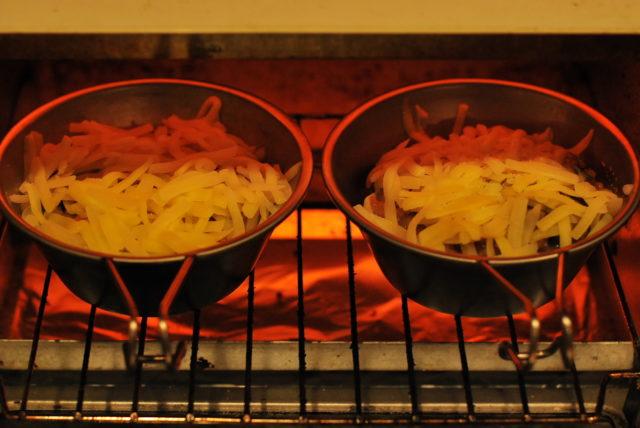 オーブントースターで15分