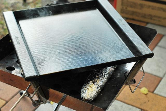 鉄板を温める