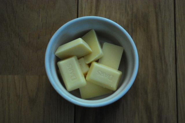 ホワイトチョコを溶かす前