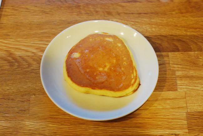 トースターでホットケーキを温める