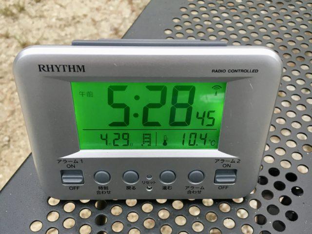 塔の岩オートキャンプ場の気温!ゴールデンウィークは寒い!