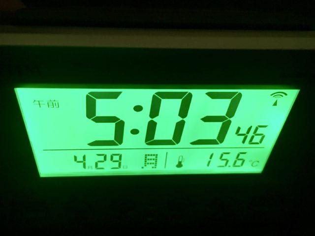 テントの中の温度