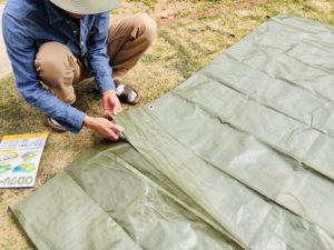 テントのスカートを自作!わずか5分でできる作り方